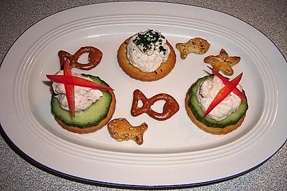 Cracker mit Räucherforellen - Mousse 9