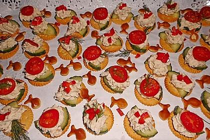 Cracker mit Räucherforellen - Mousse 6