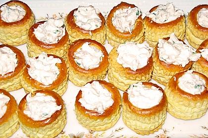 Cracker mit Räucherforellen - Mousse 11