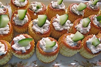 Cracker mit Räucherforellen - Mousse 12