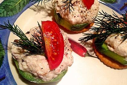 Cracker mit Räucherforellen - Mousse 8