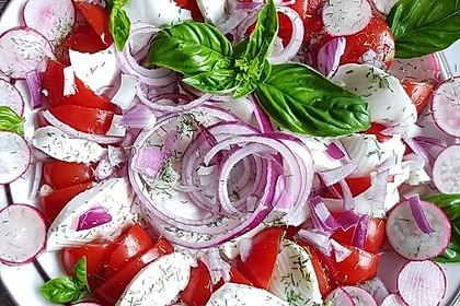 Mozzarella - Tomaten Salat mit Pesto 2
