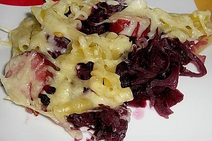 Rotkohl - Pasta Auflauf 3