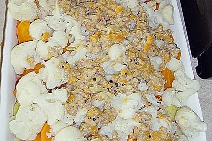 Blumenkohl - Speck Kartoffelauflauf 1