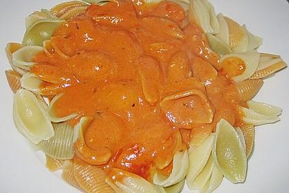 Gorgonzolasoße mit Tomate 1