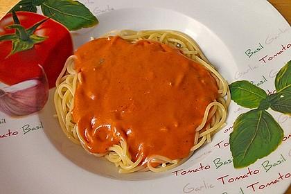 Gorgonzolasoße mit Tomate