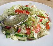 Salatdressing Essig und Öl