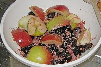 Ente mit Äpfeln, Backpflaumen und Speck 6
