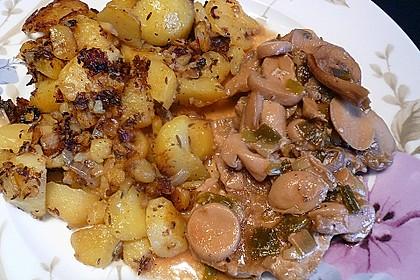 Jägerschnitzel mit Bratkartoffeln 2