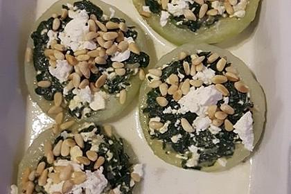 Kohlrabi gefüllt mit Spinat, Schafskäse und Schalotten 6