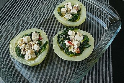 Kohlrabi gefüllt mit Spinat, Schafskäse und Schalotten 8