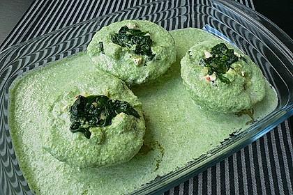 Kohlrabi gefüllt mit Spinat, Schafskäse und Schalotten 20
