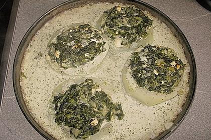Kohlrabi gefüllt mit Spinat, Schafskäse und Schalotten 23