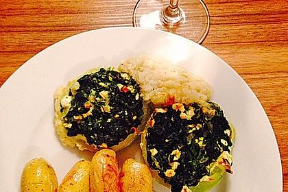 Kohlrabi gefüllt mit Spinat, Schafskäse und Schalotten 3