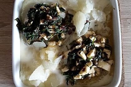 Kohlrabi gefüllt mit Spinat, Schafskäse und Schalotten 21