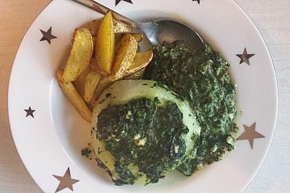 Kohlrabi gefüllt mit Spinat, Schafskäse und Schalotten 10