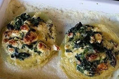 Kohlrabi gefüllt mit Spinat, Schafskäse und Schalotten 14