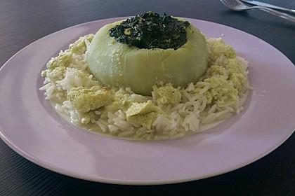 Kohlrabi gefüllt mit Spinat, Schafskäse und Schalotten 13
