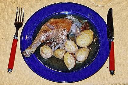 Entenkeulen auf Honig - Rotwein - Zwiebeln 3