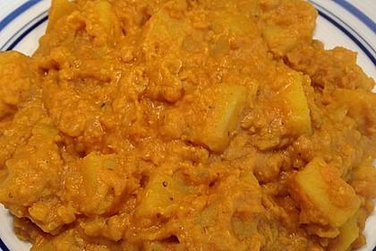 Rote Linsen-Curry mit Kokosmilch 8