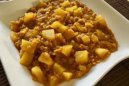 Rote Linsen-Curry mit Kokosmilch 6