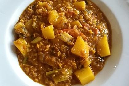 Rote Linsen-Curry mit Kokosmilch 9