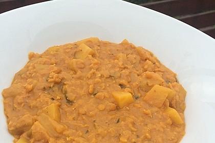 Rote Linsen-Curry mit Kokosmilch 3