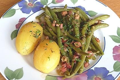 Grüne Bohnen mit Speck 1