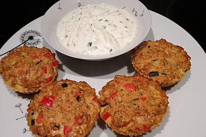Low Carb Gemüse-Thunfisch-Muffins 11