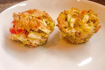 Low Carb Gemüse-Thunfisch-Muffins 8