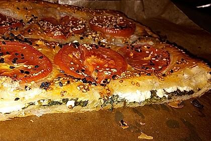 Spinat-Tomate-Feta-Börek vom Blech 2