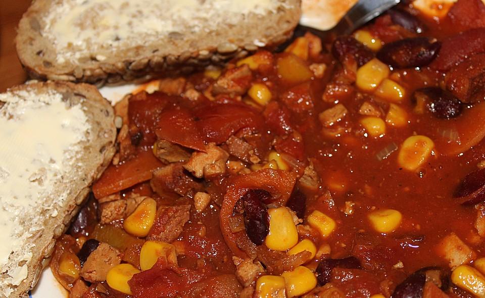 marcs veganes chili sin carne rezept mit bild von mfhmarc. Black Bedroom Furniture Sets. Home Design Ideas