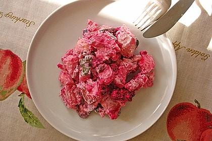 Kartoffelsalat mit Bismarckhering und Rote Bete