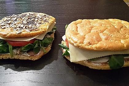 Low Carb Burgerbrötchen 'Oopsies' 14