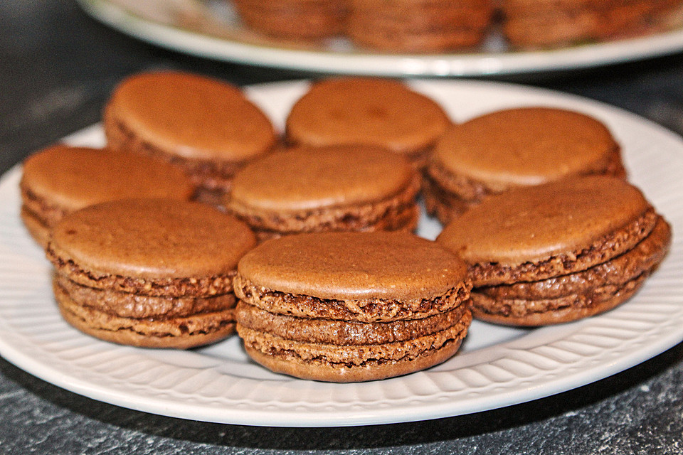 schoko nutella macarons rezept mit bild von schokofreak xd. Black Bedroom Furniture Sets. Home Design Ideas