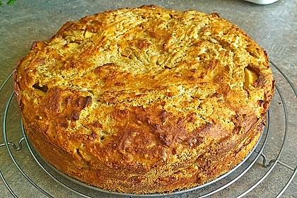 Apfelkuchen aus altem Brot 1