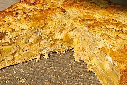 Apfelkuchen aus altem Brot 2