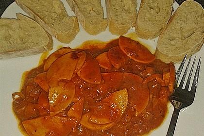 Curry-Wurst-Pfanne à la Mäusle 1