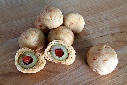 Cheddar-Oliven-Pralinen