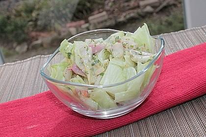 Salat-Dressing mit Sahne 3