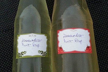 Minze-Zitronenmelisse-Sirup 1