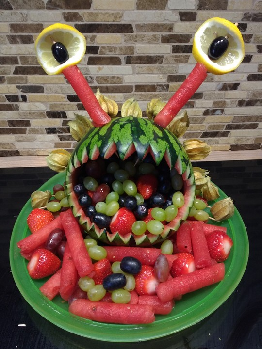 Melonen monster von moosmutzel311 - Obstteller kindergarten ...