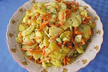 Kartoffelsalat mit Lauch und Karotten 1