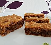 Amerikanische Chocolate Chip Blondies