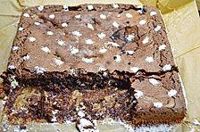 Kokos-Frischkäse-Brownies