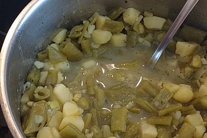 Bohnensuppe aus grünen Stangenbohnen 1