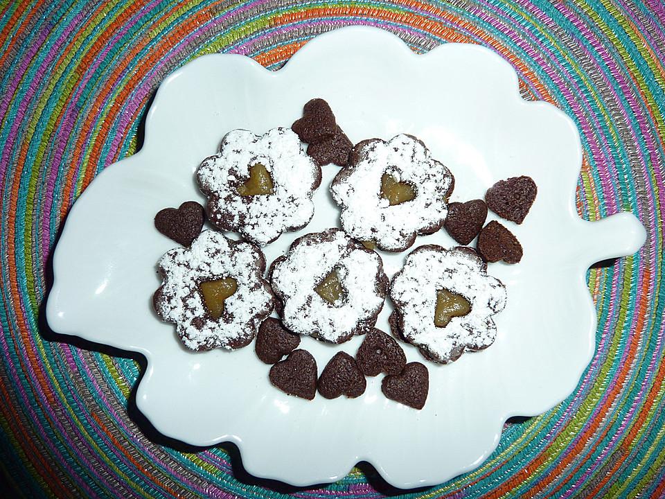 schokoladenpl tzchen weihnachten puderzucker rezepte. Black Bedroom Furniture Sets. Home Design Ideas