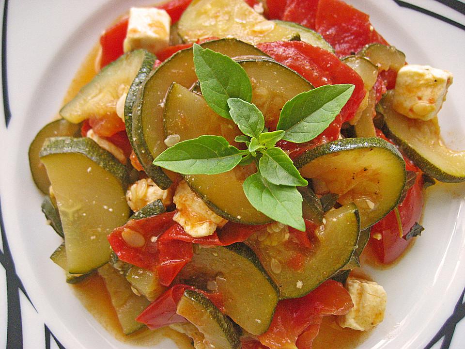 tomaten zucchini pfanne mit feta von machal. Black Bedroom Furniture Sets. Home Design Ideas