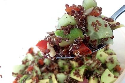 Quinoa Powersalat mit Tomaten und Avocado 7