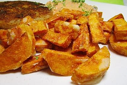 Knusprig frittierte Süßkartoffel-Pommes 8